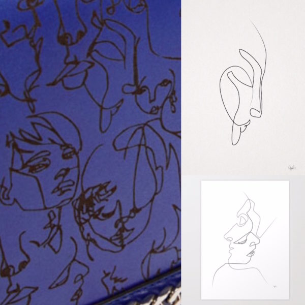 Die Zeichnungen von Christophe Louis Quibe auf der Tasche von Zara