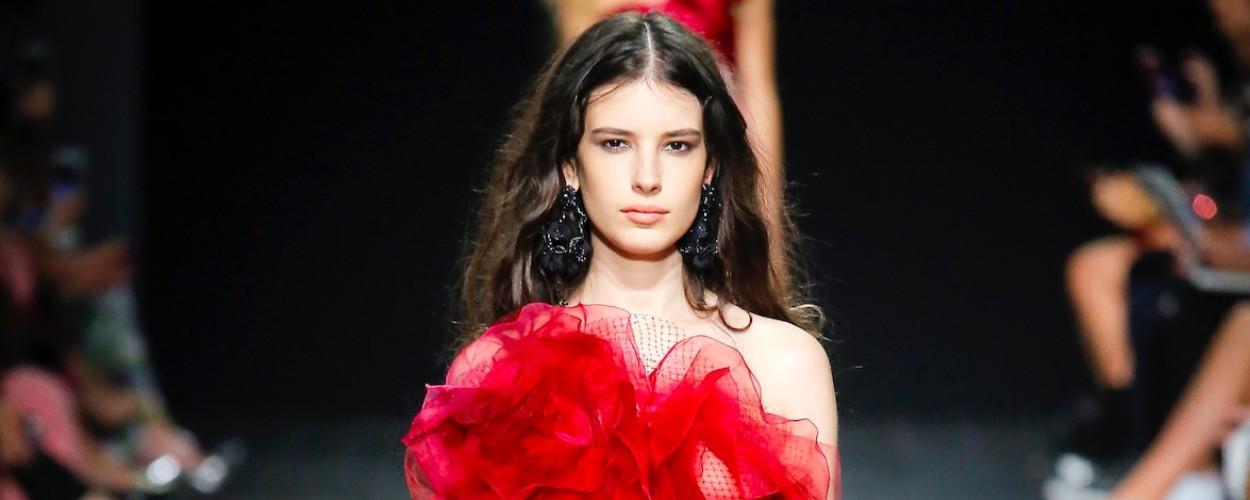 Marchesa Modepilot 2018 Sommer Galakleid rot Weinstein