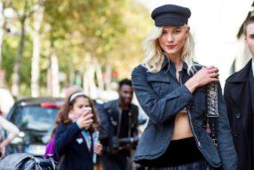 Street Style Streetstyle Paris Karlie Kloss Modepilot Dior Schiffermuetze