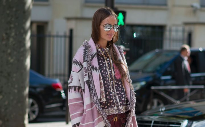 Street Style Strickjacken Modepilot Paris Muster