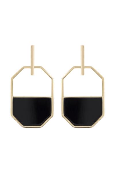 Vergoldete Ohrringe aus Sterling Silber zum Anstecken