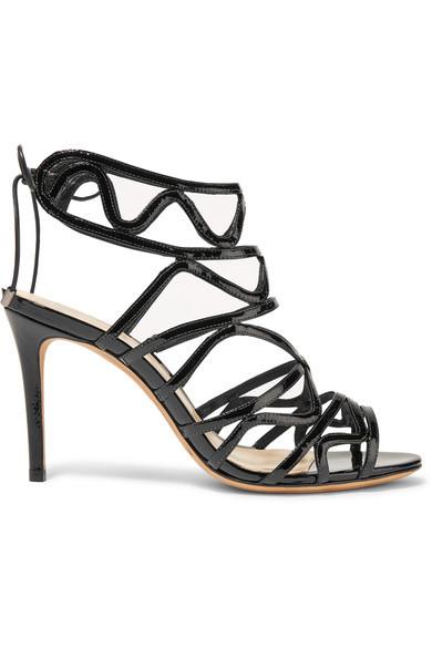 Schwarze Lackleder-Sandaletten von Alexandre Birman, circa 79 Euro