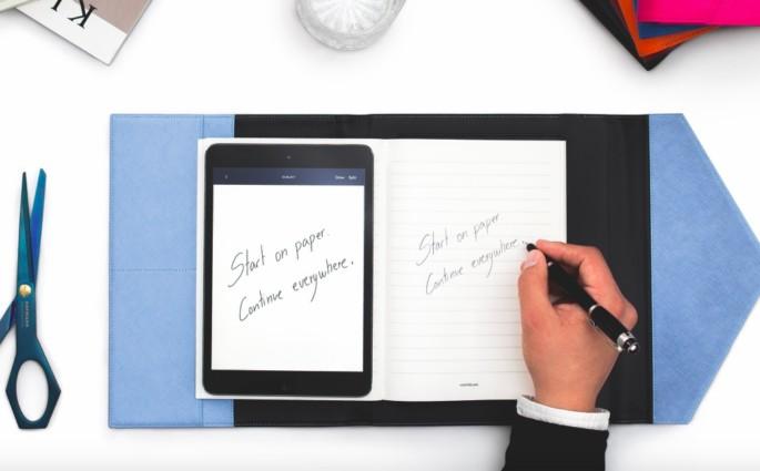 Augmented Paper Montblanc Modepilot digital Handschrift