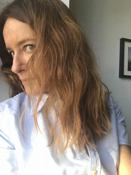Meine Haare nach dem ersten Mal Lufttrocknen