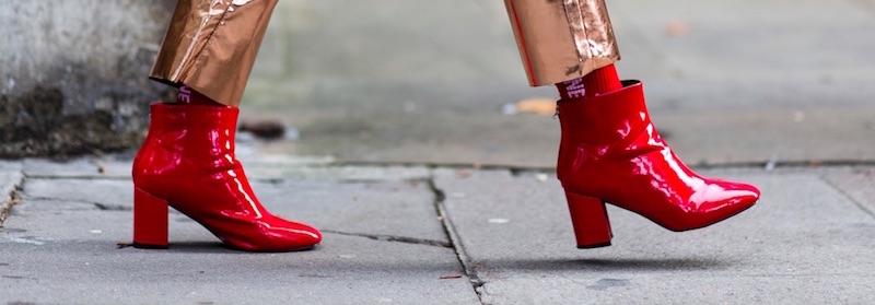 Rote Lackschuhe Street Style Modepilot