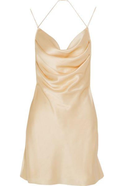 Seidensatin-Kleid von Saint Laurent, circa 460 Euro
