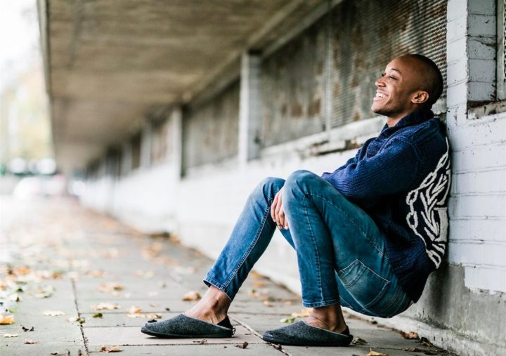 Mahabis Hausschuhe Filz Herren Gummi Slipper Schlappen Modepilot