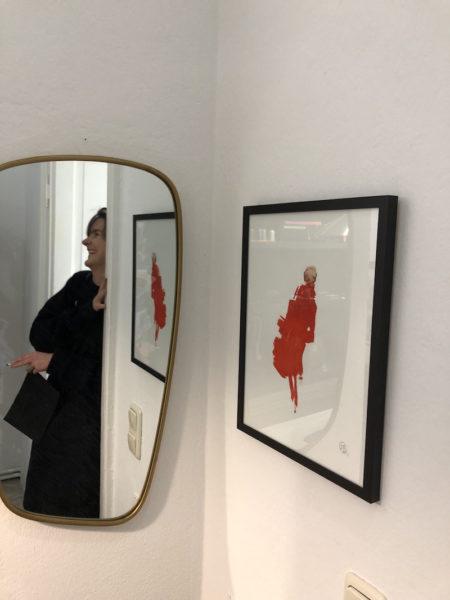 Justine Nessi zwischen ihrem Atelier und dem Ladenlokal