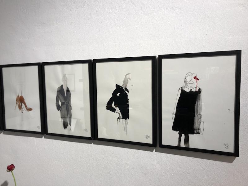 Justine Nessi Modeillustrationen Modepilot Tuerkenstrasse Muenchen