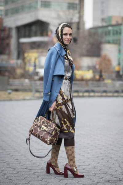 Street Style vor der Fashion Show von Jason Wu in New York
