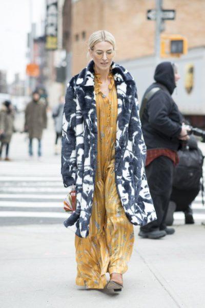 Gast der Ralph Lauren Modenschau in New York
