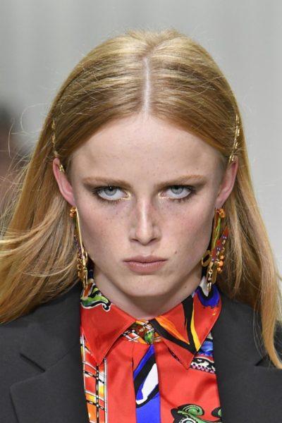 Rianne van Rompaey in Versace, Sommer 2018