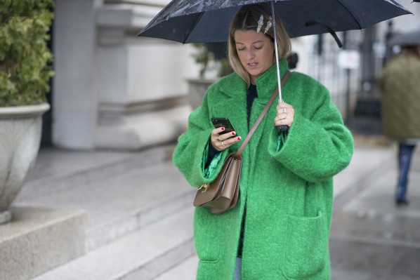 Streetstyle bei Victoria Beckham in New York