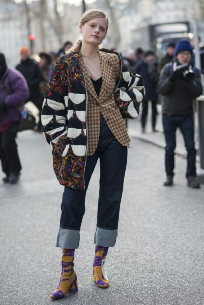 Das belgische Model Hanne Gaby Odiele bei der Show von Dries Van Noten in Dries Van Noten