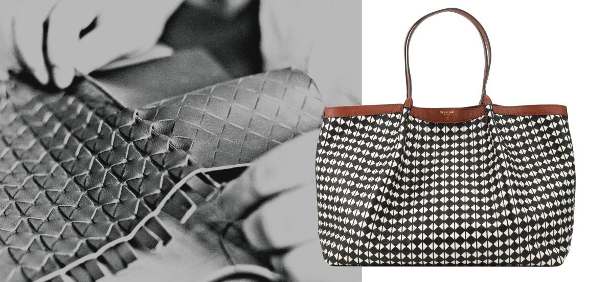 Serapian bags Handtaschen Flechttechnik Modepilot