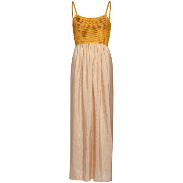 Kleid aus Häkeltop und Seidenrock von Knitted Love