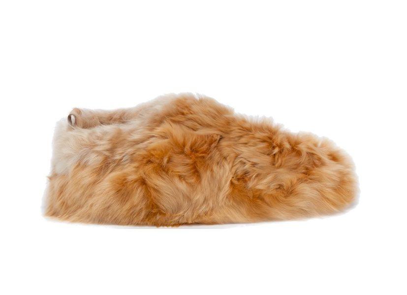 Alpaka-Slipper mit Schaffell-Fütterung von Baboosha Paris