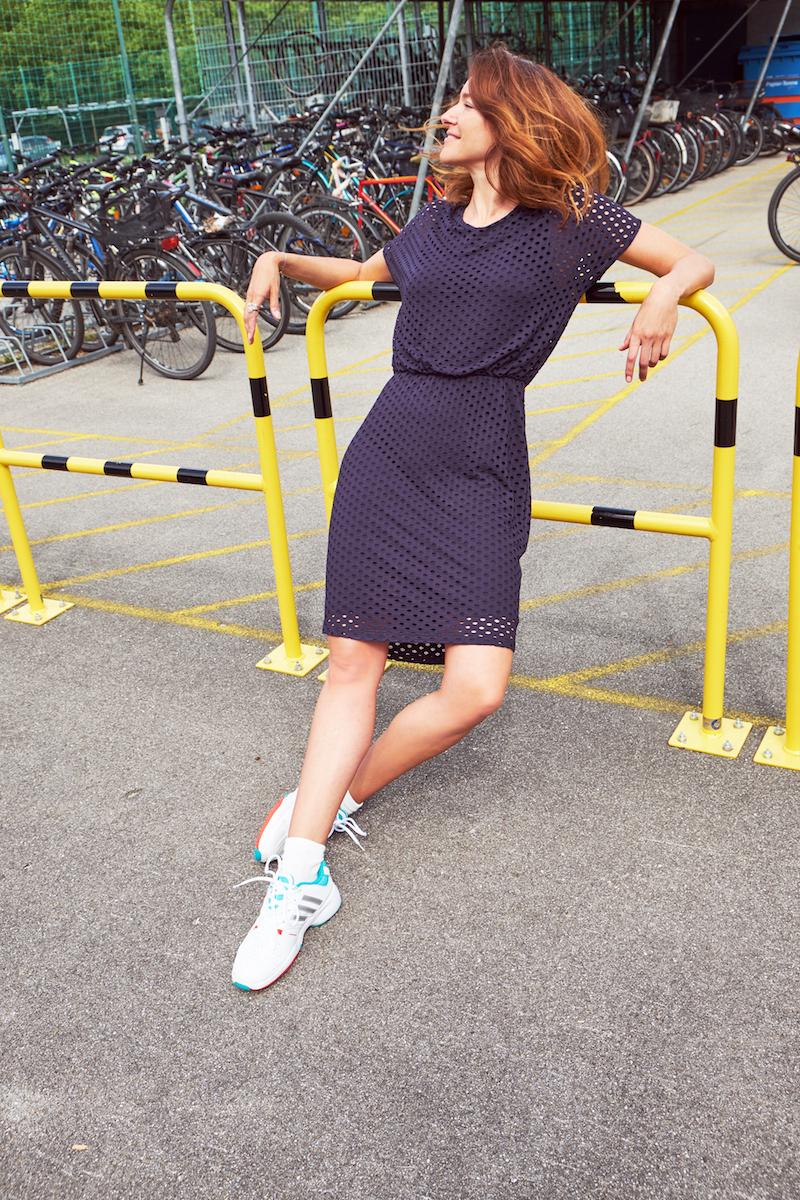 Kleid Blau Dunkelblau Bonita Jersey Sommerkleid Modepilot