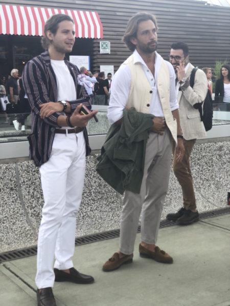 Die Zigarre ist unter den Streetstylern in Florenz ein beliebtes Stilmittel