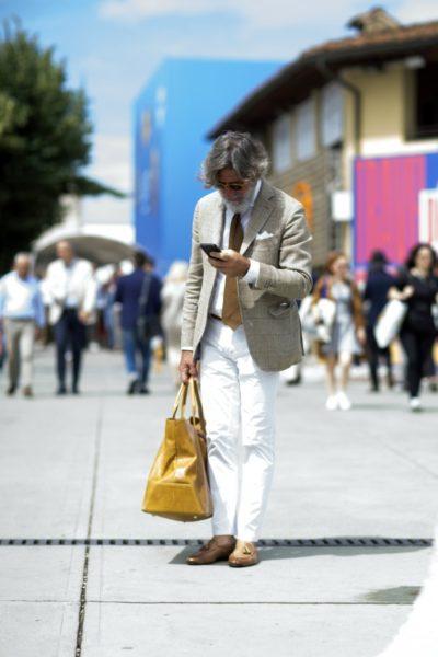 Auf der Herrenmodenmesse Pitti Uomo sah ich vor allem viele weiße Hosen