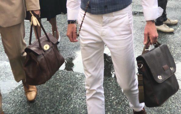 white pants street style man