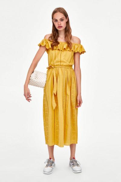 Midi-Kleid aus 100 Prozent Baumwolle