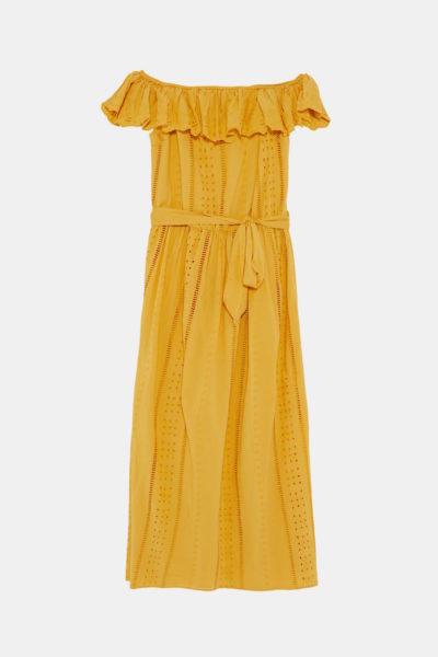 Das Kleid wird mit passendem Bindegürtel geliefert