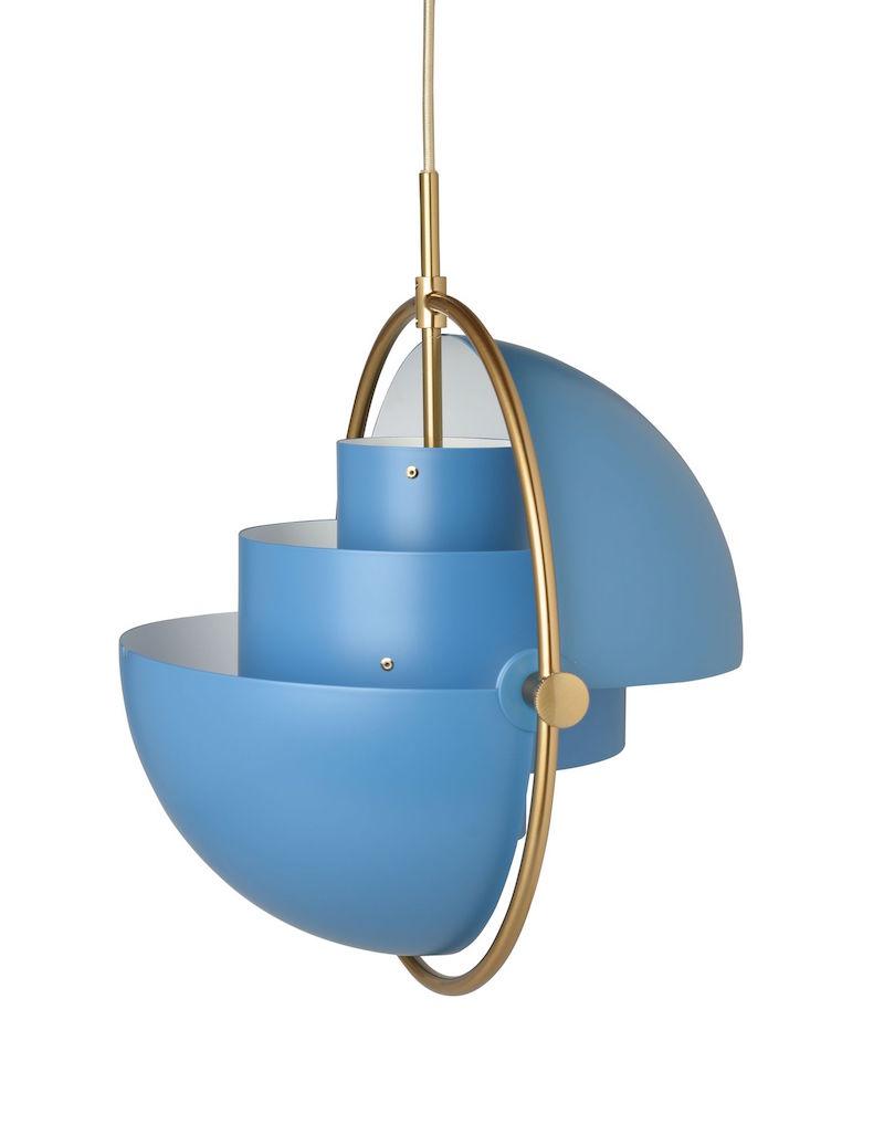 Modepilot Lampe Inneneinrichtung Blau Messing Gubi