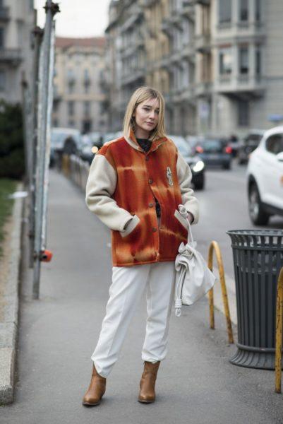 Kurz vor der Alberta Ferretti Fashion Show in Mailand