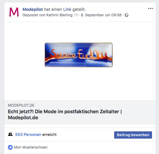 Facebook Modepilot