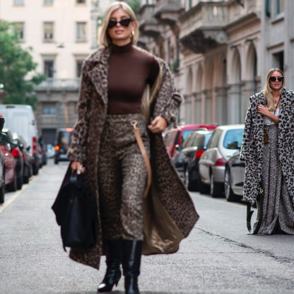 Max Mara-Ausstattung zur Fashion Week