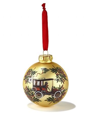 Weihnachtskugel aus der Portraits-Serie in Gold
