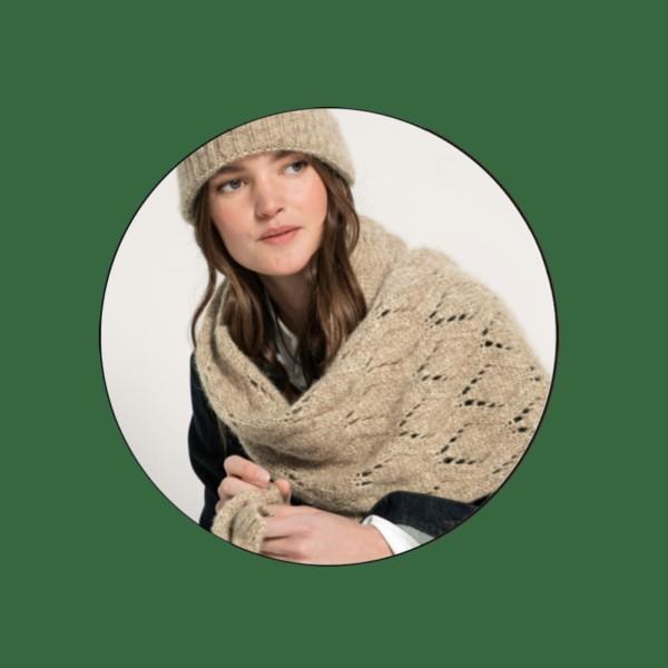 Tür 7: Schal und Mütze aus Alpaka (sooo weich)