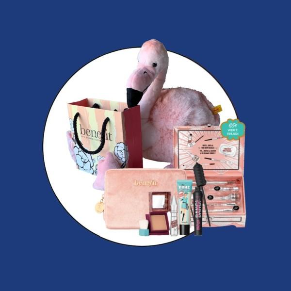 Tür 12: Flausch-Flamingo von Steiff und elf Benefit-Produkte