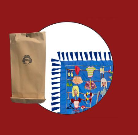 """Tür 24: Besticktes """"Paper Doll""""-Tuch von Maison Common und Kunst von Ron Miller"""