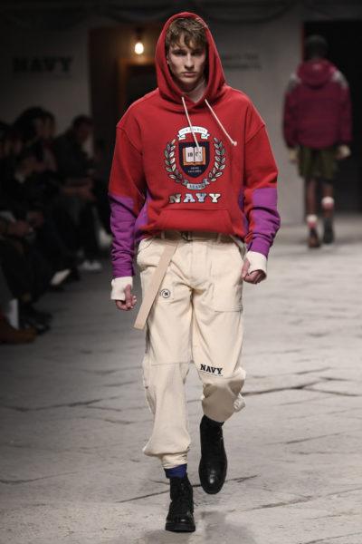Look aus der Beyond Closet Fashion Show während der Pitti Uomo