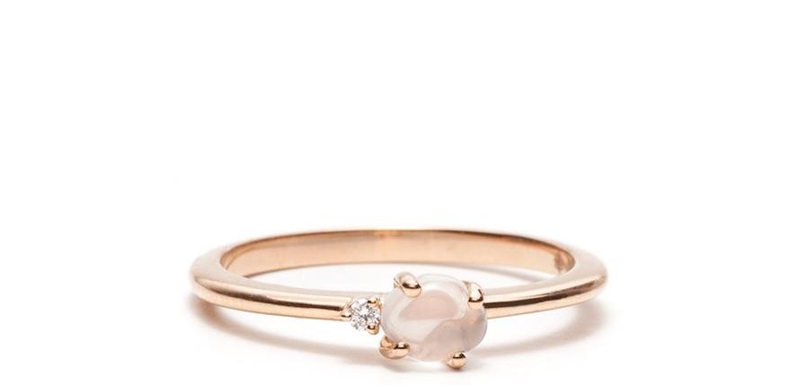 Modepilot Vieri Ring Rosegold Brillant fair ethisch