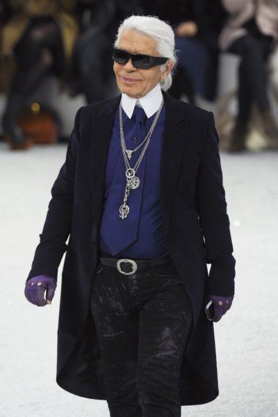 Karl Lagerfeld im Winter 2012