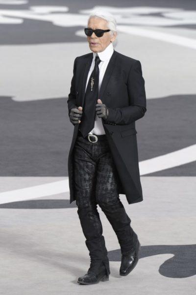 Karl Lagerfeld im Winter 2013