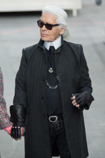 Karl Lagerfeld im Winter 2014