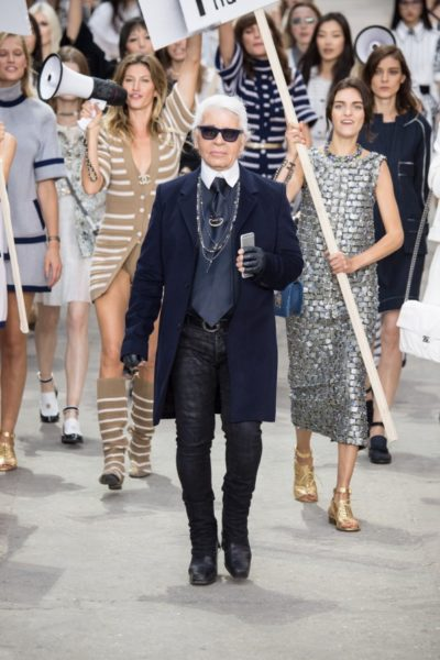 Karl Lagerfeld im Herbst 2014