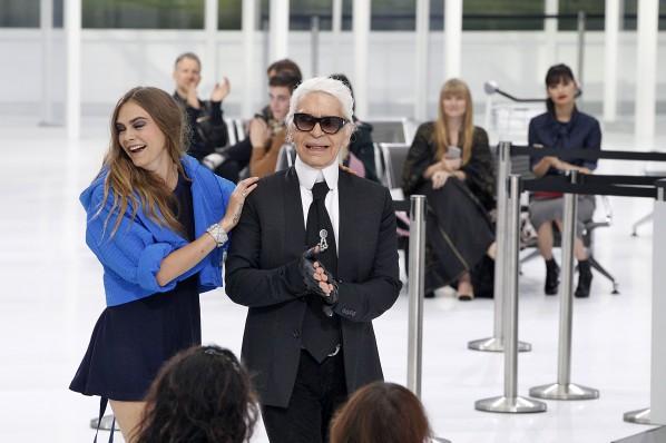 Lagerfeld im Spätsommer 2015