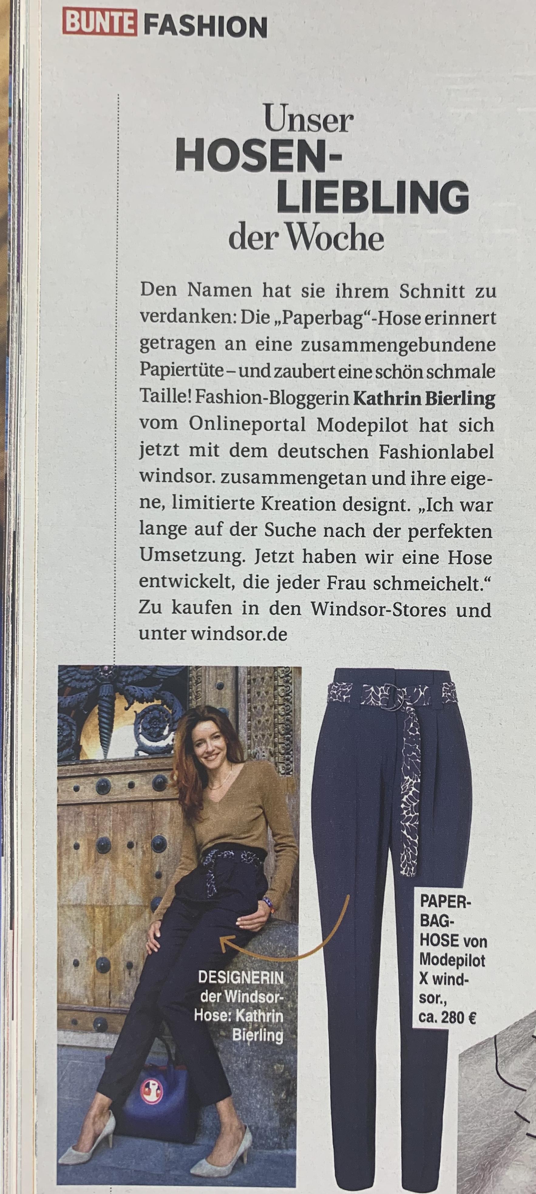 Bunte Magazin Windsor Paperbag Hose Modepilot Kathrin