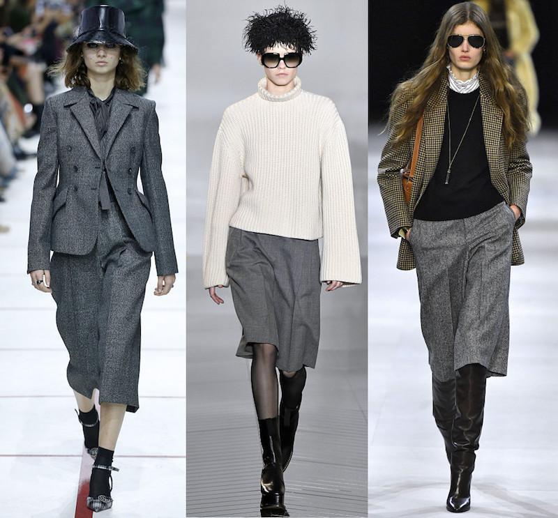 Graue Hosenröcke Modepilot 2019 Dior Celine