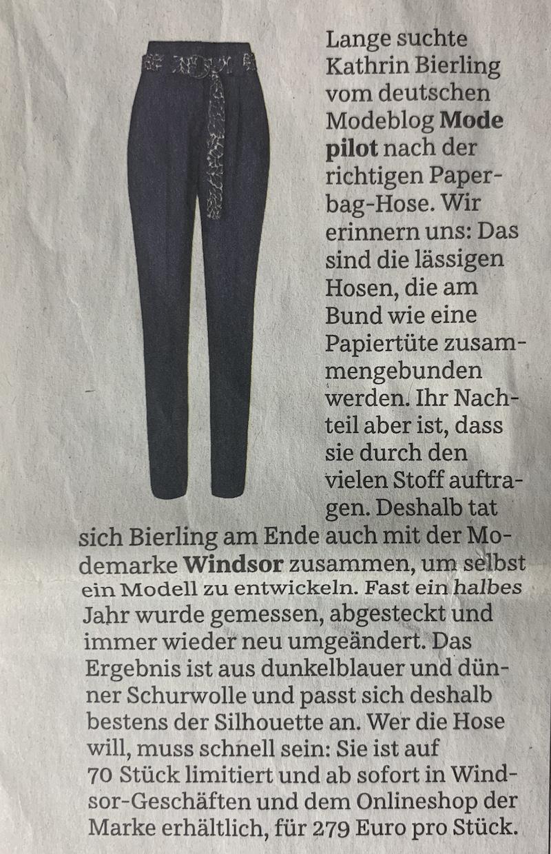 Paperbag Hose Modepilot Süddeutsche