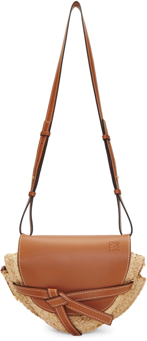Raffia Leder Tasche Loewe Modepilot
