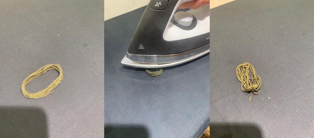Allude Cashmere reparieren Garn aufdampfen