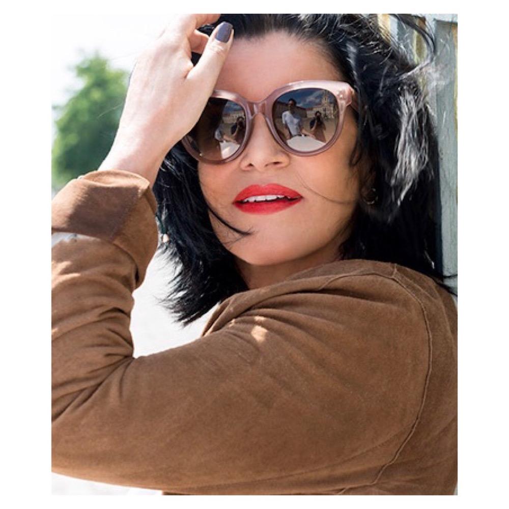 Margit Rüdiger schwarze Haare graue Haare Kolumne Modepilot