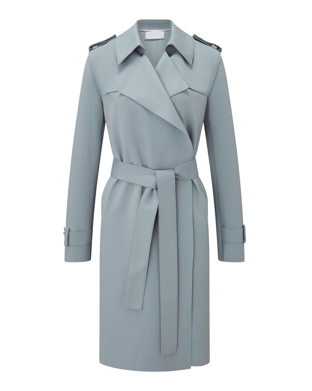 Harris Wharf London_SS20_Women_Soft_Trench_Coat_Technic_Powder_Blue_A1138PKT_518.00
