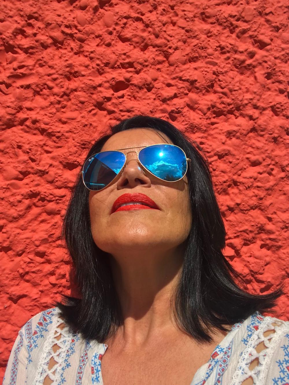 Margit rote Lippen Modepilot